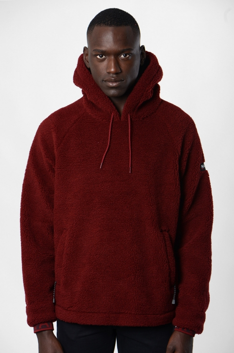 NAPA by MARTINE ROSE Burgundy Fleece Hoodie 1