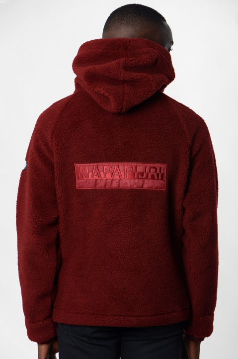 NAPA by MARTINE ROSE Burgundy Fleece Hoodie 2