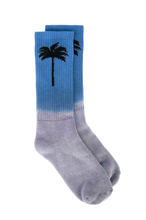 PALM ANGELS Blue Sport Socks 0