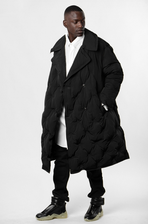 MAISON MARGIELA Quilted Shell Trench Coat 3