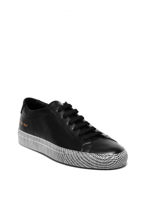COMMON PROJECTS Achilles Low Moire Sole Sneakers Black 1