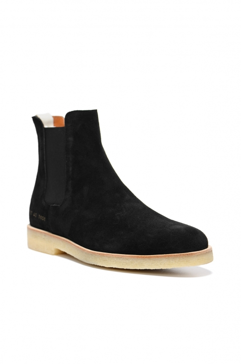 COMMON PROJECTS Suede Chelsea Boots Black 1
