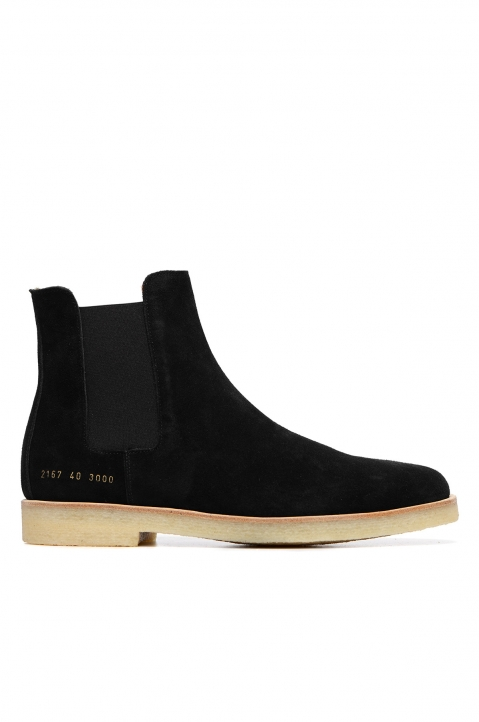 COMMON PROJECTS Suede Chelsea Boots Black 0