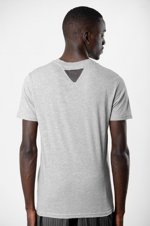 INÊS TORCATO Light Grey Graphic Print Tee 1