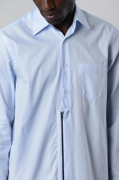 INÊS TORCATO Zip Oxford Shirt 3