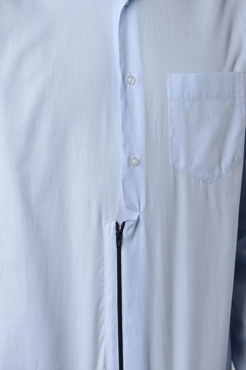 INÊS TORCATO Zip Oxford Shirt 4