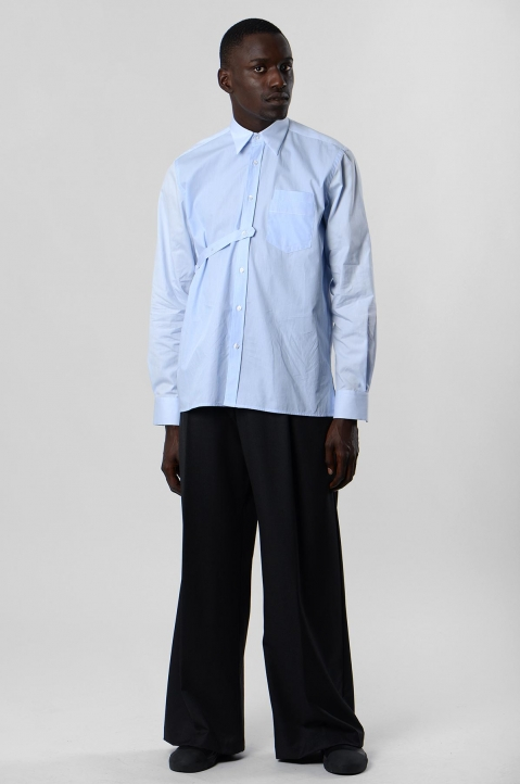 INÊS TORCATO Double-Pocket Oxford Shirt 4