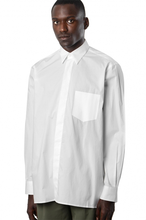 INÊS TORCATO Transfer Pocket White Shirt 0