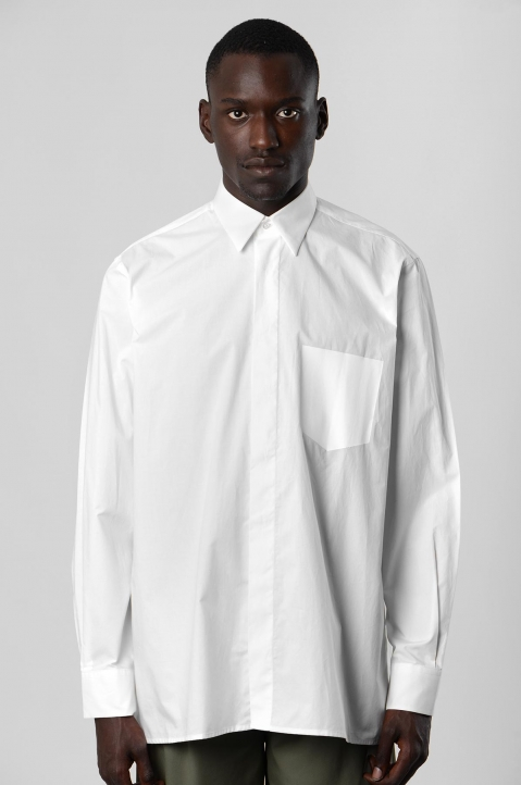 INÊS TORCATO Transfer Pocket White Shirt 1