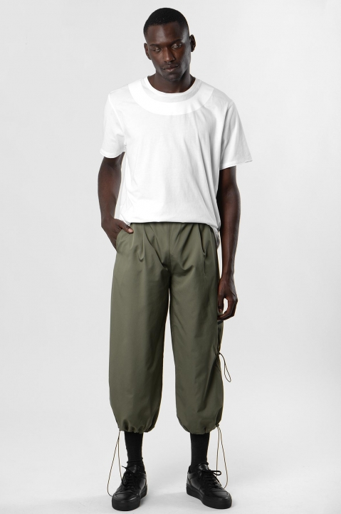INÊS TORCATO Khaki Cropped Cargo Trousers 3