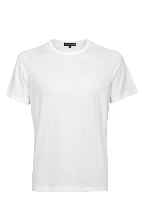 WRONG WEATHER White Embroidered Tee 0
