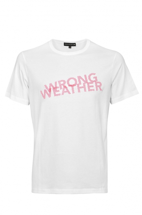 WRONG WEATHER Red Embroidered Tee 0