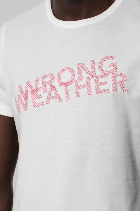 WRONG WEATHER Red Embroidered Tee 2