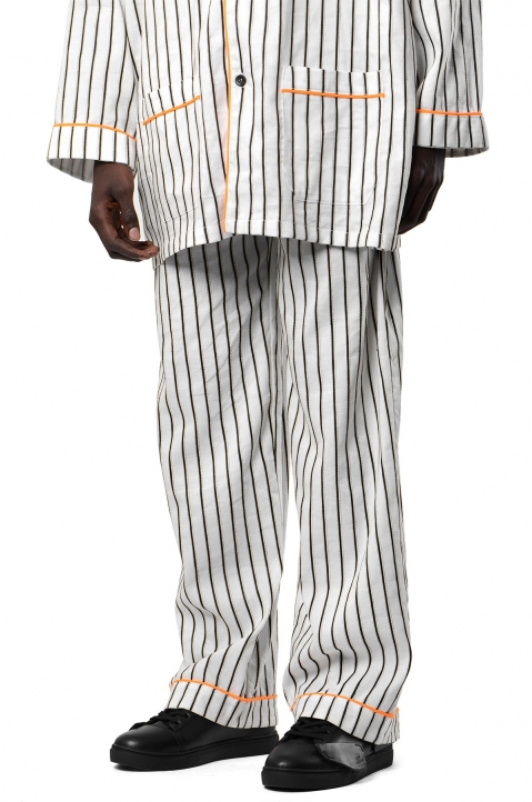 DAVID CATALÁN White Striped Pyjama Pants 0