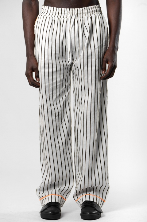 DAVID CATALÁN White Striped Pyjama Pants 1
