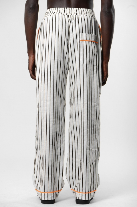 DAVID CATALÁN White Striped Pyjama Pants 2