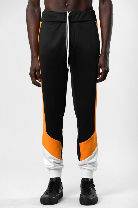 DAVID CATALÁN Tri-Color Black Sweatpants 1