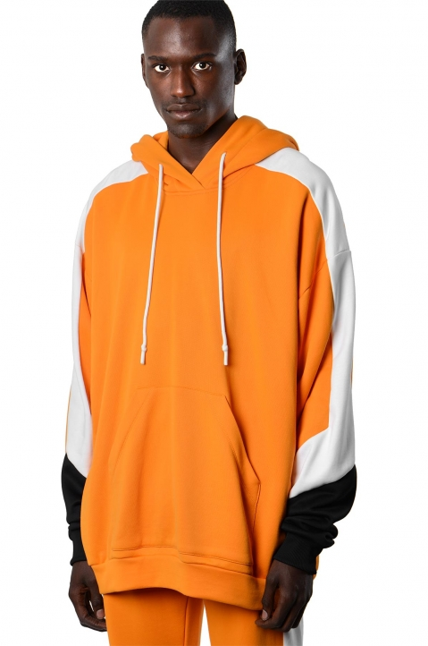 DAVID CATALÁN Tri-color Orange Hoodie 0