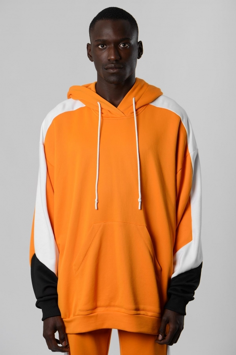 DAVID CATALÁN Tri-color Orange Hoodie 1