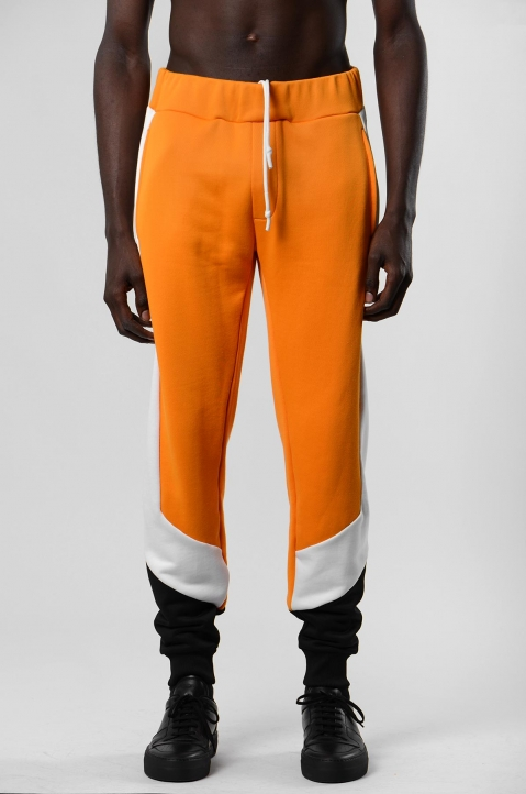 DAVID CATALÁN Tri-Color Orange Sweatpants 1