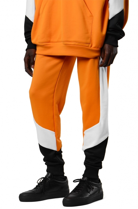 DAVID CATALÁN Tri-Color Orange Sweatpants 0
