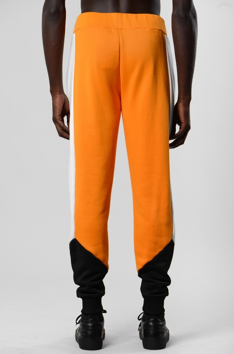 DAVID CATALÁN Tri-Color Orange Sweatpants 2