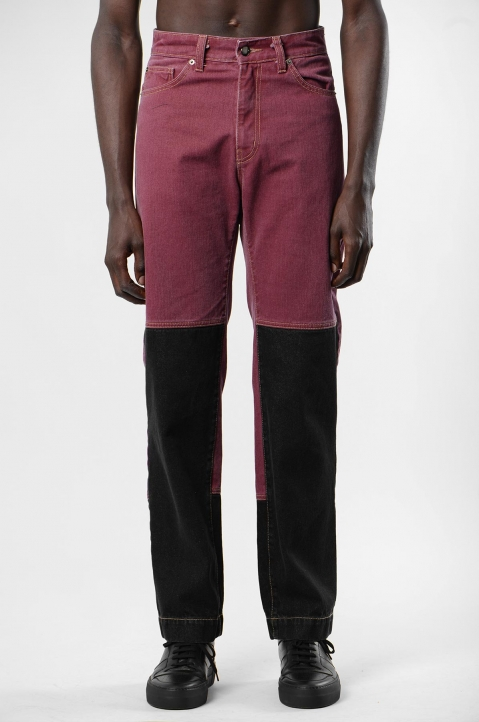 DAVID CATALÁN Black/Burgundy Jeans 1