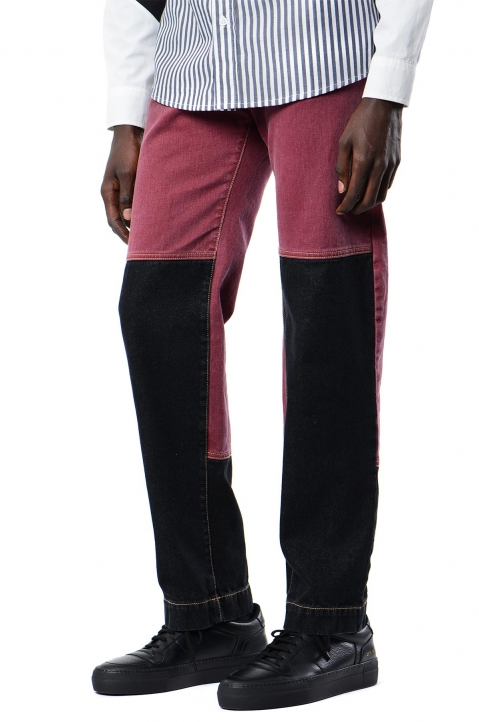 DAVID CATALÁN Black/Burgundy Jeans 0