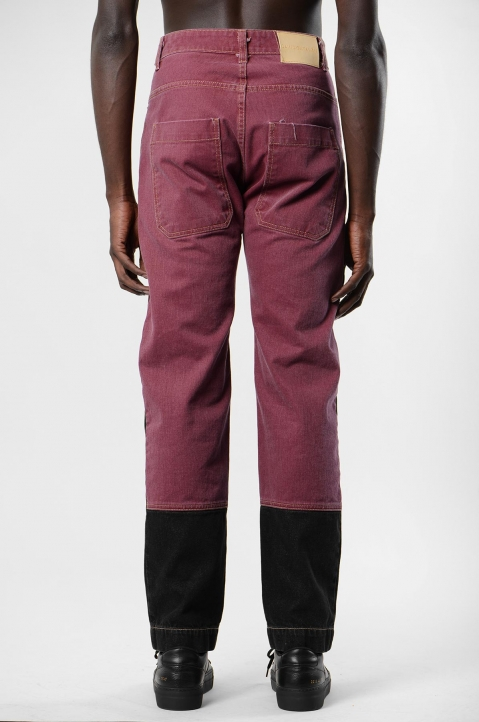 DAVID CATALÁN Black/Burgundy Jeans 2