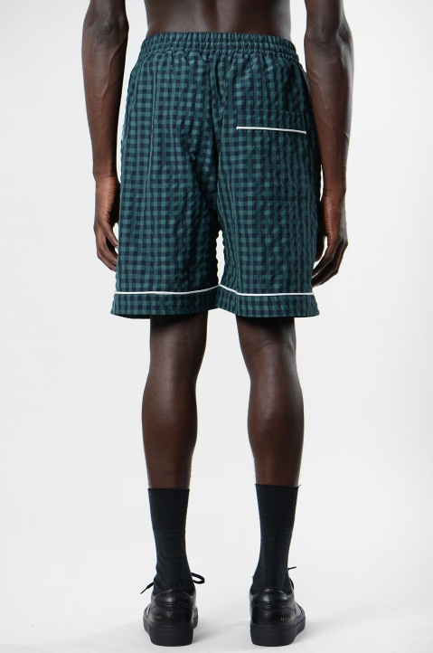 DAVID CATALÁN Navy/Green Checked Pyjama Shorts 2