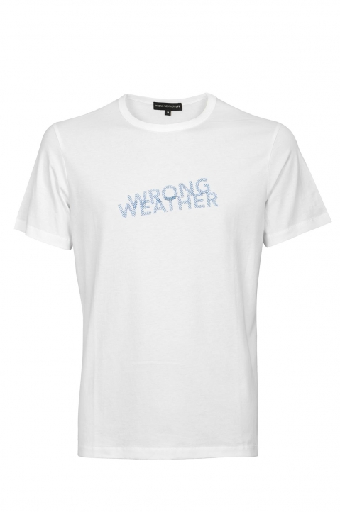 WRONG WEATHER Blue Printed Tee 0