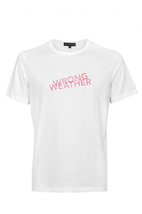 WRONG WEATHER Red Printed Tee 0