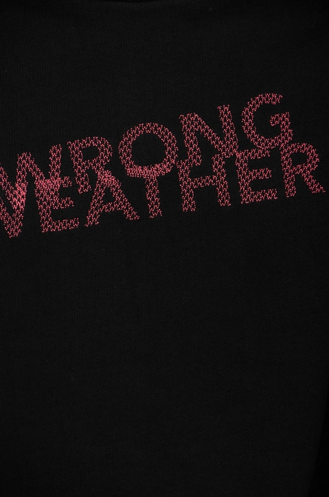 WRONG WEATHER Red Embroidered Sweatshirt 2