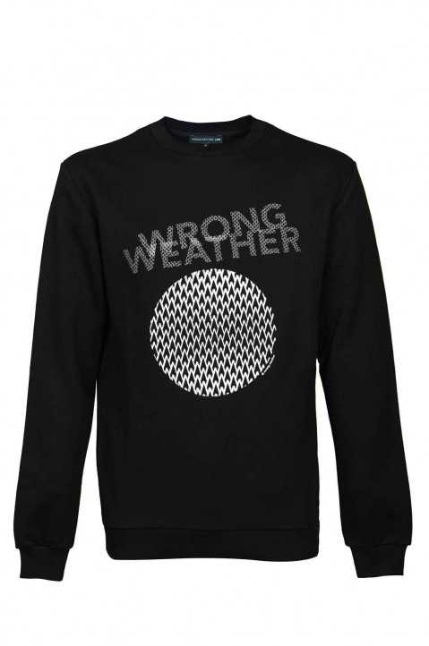 WRONG WEATHER White Embroidered Sweatshirt 0