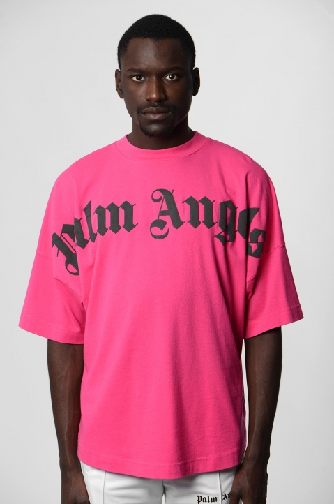 PALM ANGELS Fucsia Logo Tee 1
