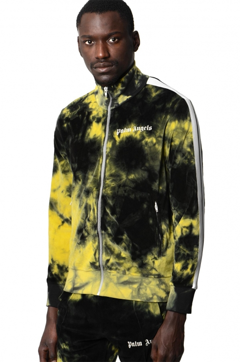 PALM ANGELS Yellow Tie Dye Track Jacket  0