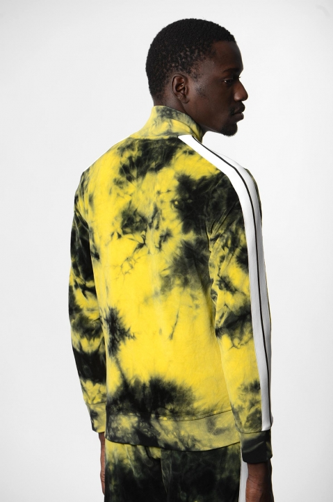 PALM ANGELS Yellow Tie Dye Track Jacket  2