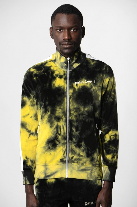 PALM ANGELS Yellow Tie Dye Track Jacket  1
