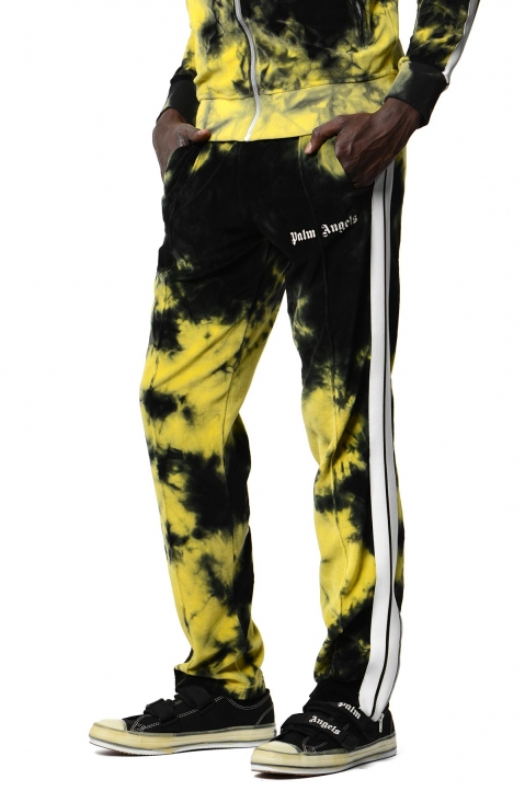 PALM ANGELS Yellow Tie Dye Track Pants  0
