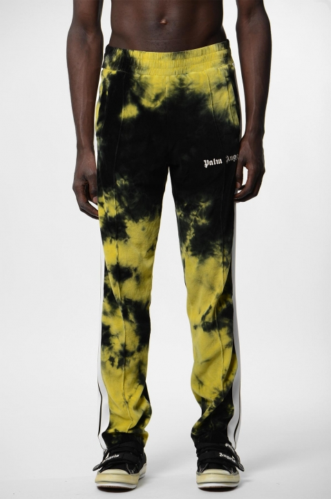 PALM ANGELS Yellow Tie Dye Track Pants  1