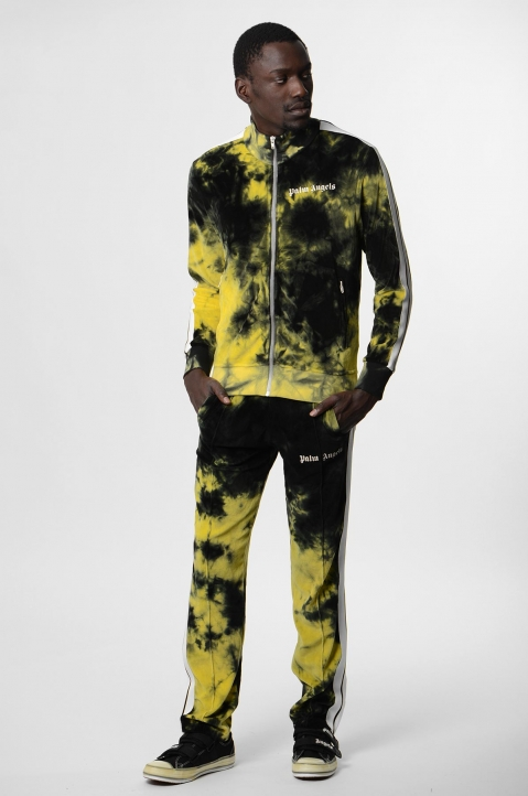 PALM ANGELS Yellow Tie Dye Track Pants  3