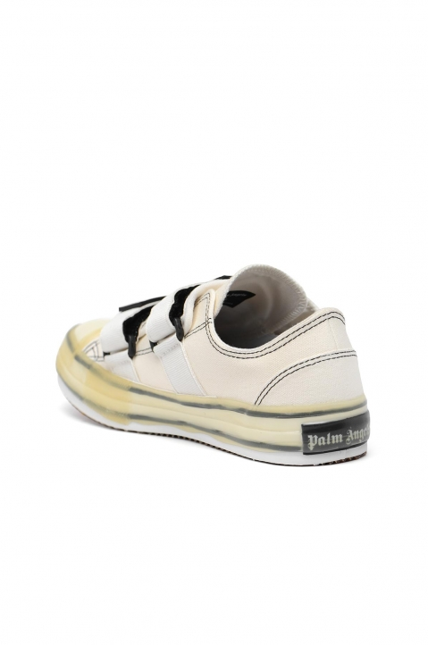 PALM ANGELS White Velcro Vulcanized Sneakers  2