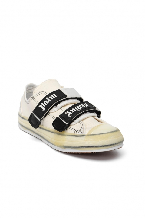 PALM ANGELS White Velcro Vulcanized Sneakers  1