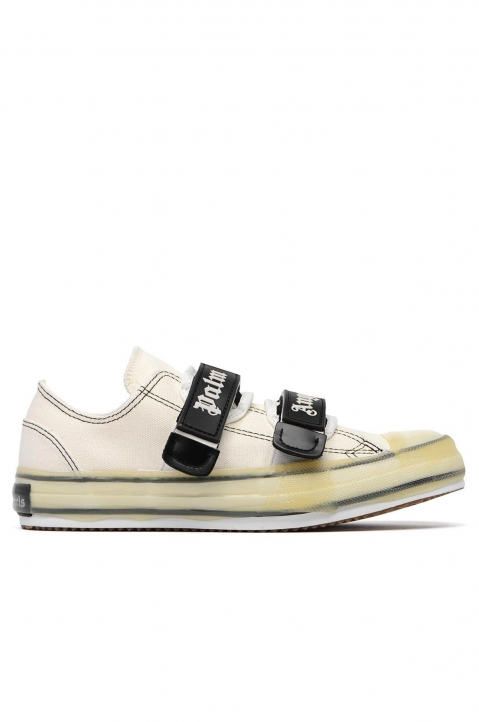 PALM ANGELS White Velcro Vulcanized Sneakers  0