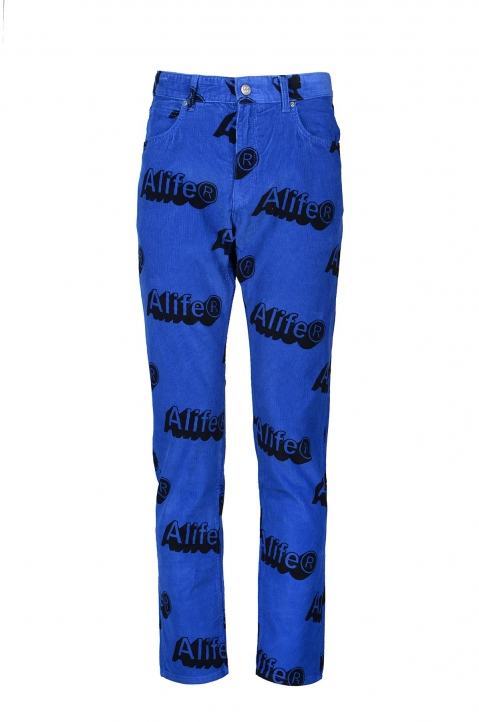 ALIFE x LEE Blue Corduroy Trousers  0