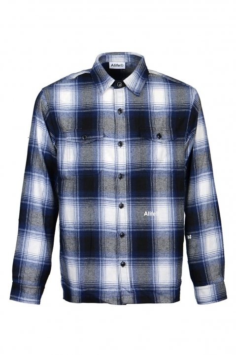 ALIFE Blue Checked Overshirt 0