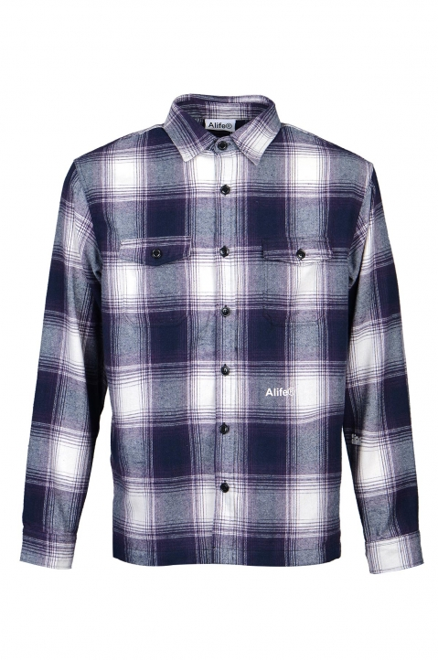 ALIFE Purple Checked Overshirt 0