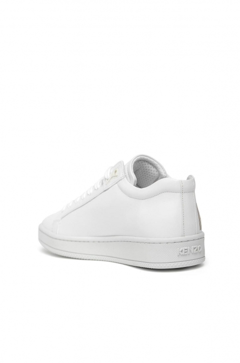 KENZO White Leather Low Top Sneakers 1