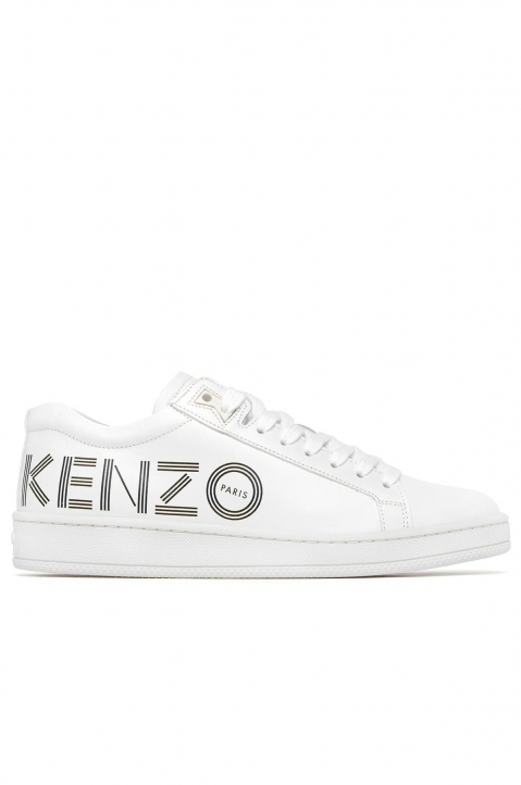 KENZO White Leather Low Top Sneakers 0