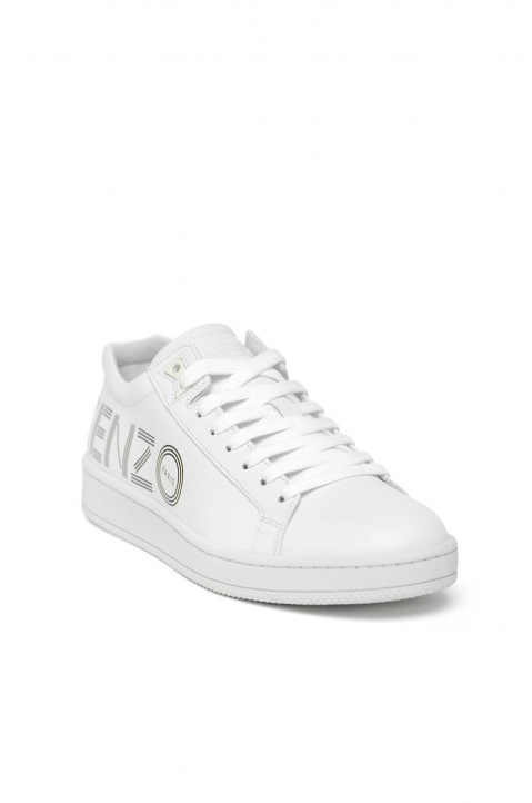 KENZO White Leather Low Top Sneakers 2